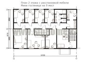 План 2 этажа. Гостиница из СИП Алматы