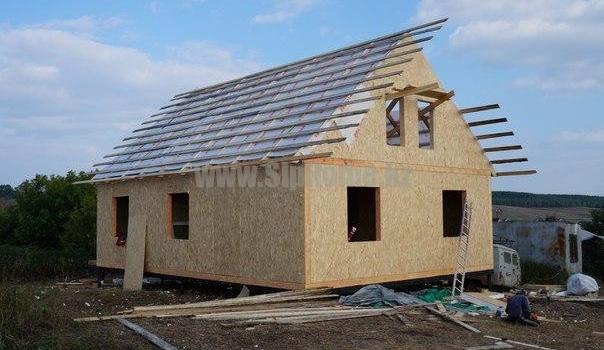 Дом 91 м² из СИП  панелей8