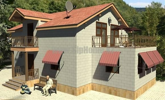 Проект дома «Эдсон» 179 кв.м. из SIP панелей