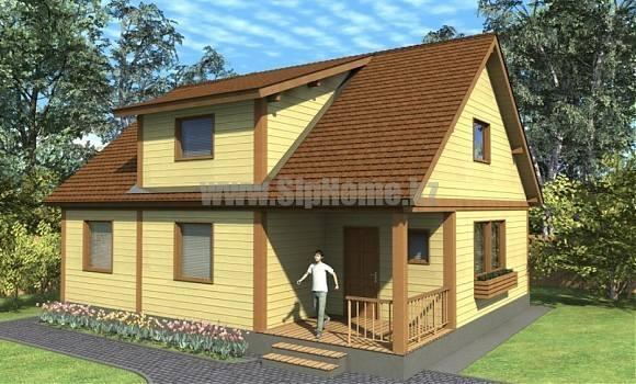Проект дома «Барри» 178 кв.м. из SIP панелей