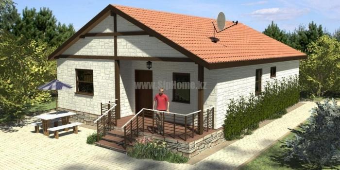Проект дома «Вернон» 100 кв.м. из SIP панелей