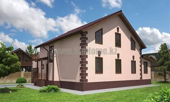 Проект дома «Милтон» 218 кв.м. из SIP панелей