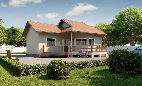 «Риджтаун» - проект дома 75 кв.м. из SIP панелей - 3 326 850 тенге