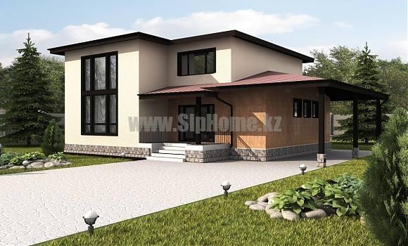 Проект дома «Модерн» 303 кв.м. из SIP панелей
