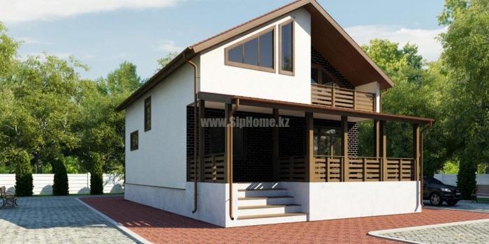 Проект дома «Барроу» 203 кв.м. из SIP панелей