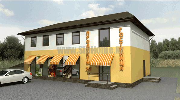 Придорожный магазин и гостиница из SIP панелей 306 кв.м — 12 318 030 тенге