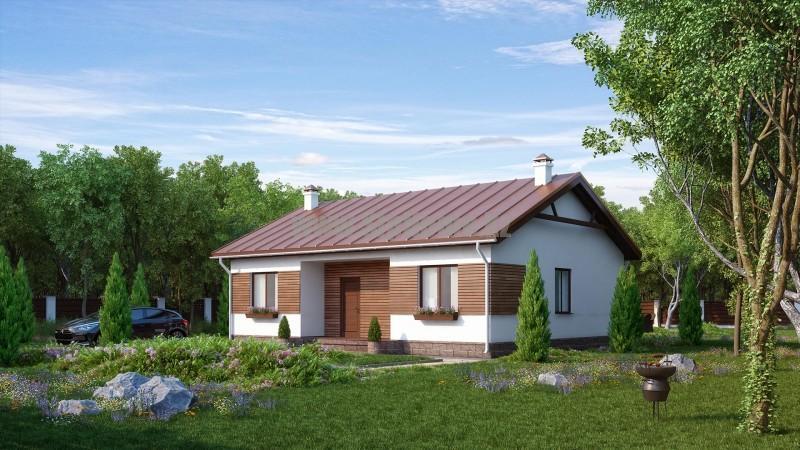 Проект дома «Стивенвиль» 80 кв.м. из SIP панелей — 1 687 887 тенге