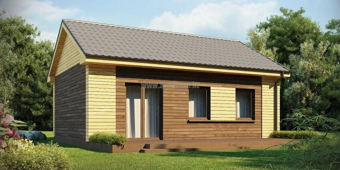 Проект дома «Ледвилл» 65 кв.м. из SIP панелей — 3 544 700 тенге