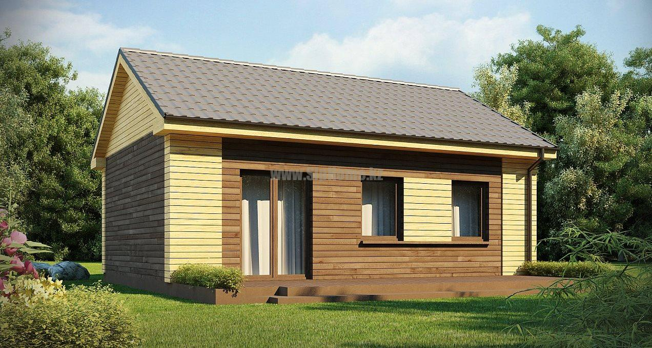 """Проект дома """"Ледвилл"""" 65 кв.м. из SIP панелей"""