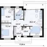 """Проект дома """"Мелфорт"""" 92,08 кв.м. из SIP панелей"""