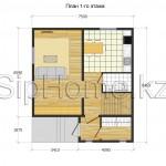 """Проект дома """"Торонто"""" 107 кв.м. из SIP панелей"""