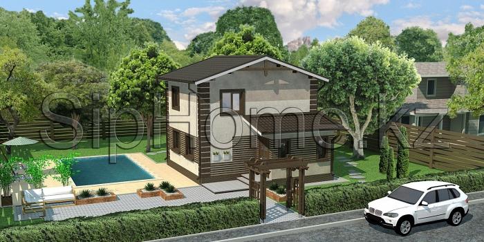Проект дома «Торонто» 107 кв.м. из SIP панелей