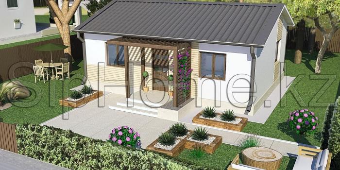 «Свобода» — проект строительства дома из СИП-панелей, 57,7 кв.м — 3 365 807 тенге