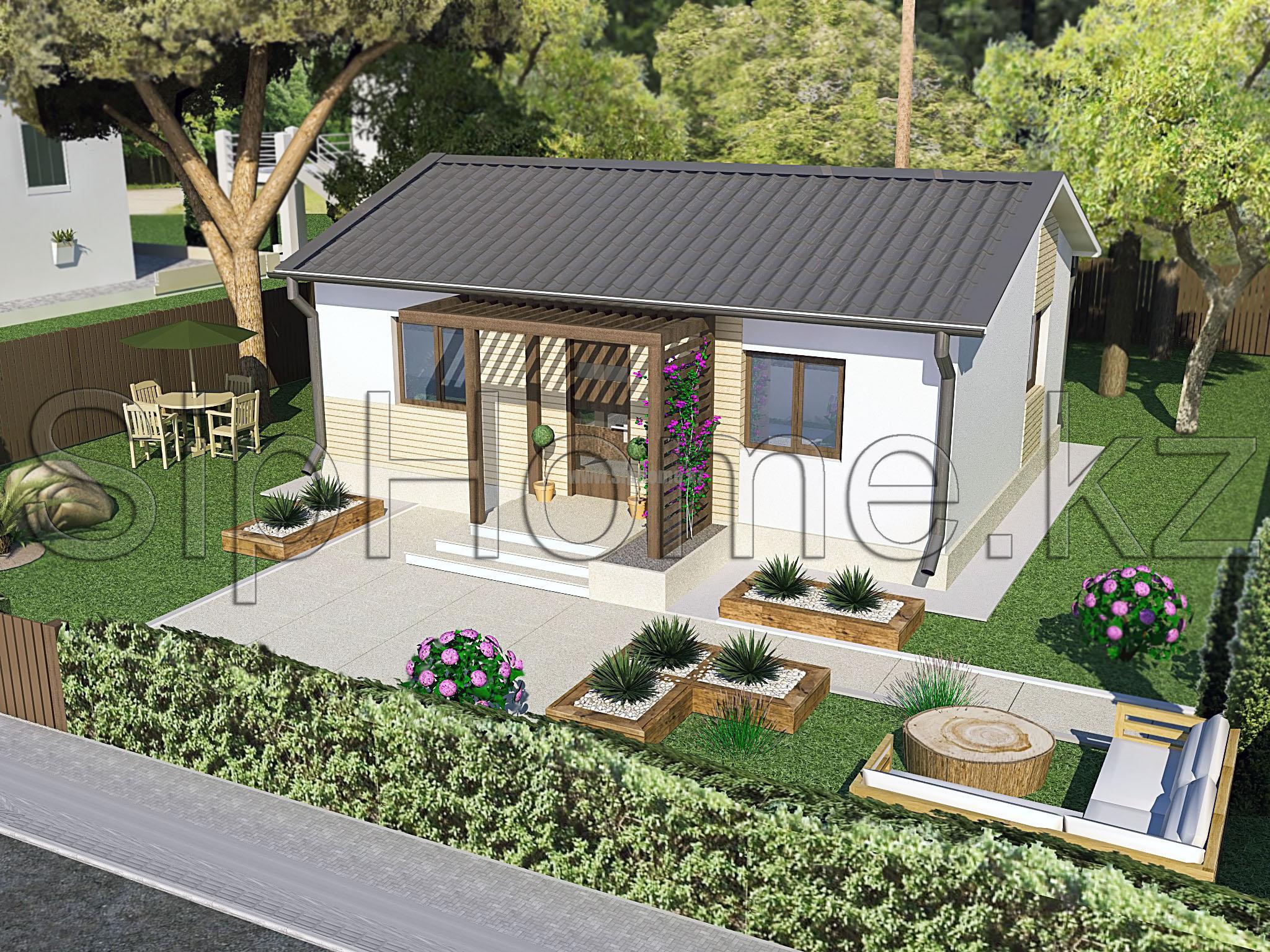 «Свобода» - проект строительства дома из СИП-панелей, 57,7 кв.м - 3 365 807 тенге