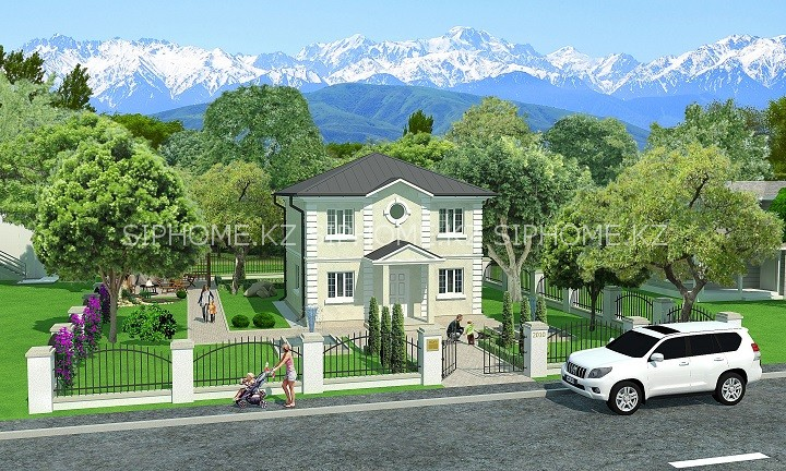 """Проект дома """"Самал"""" 136,35 кв.м. из SIP панелей - 5 988 000 тенге"""