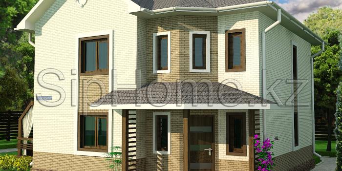 Проект дома «Коктем» 160 кв.м. из SIP панелей — 7 087 645 тенге