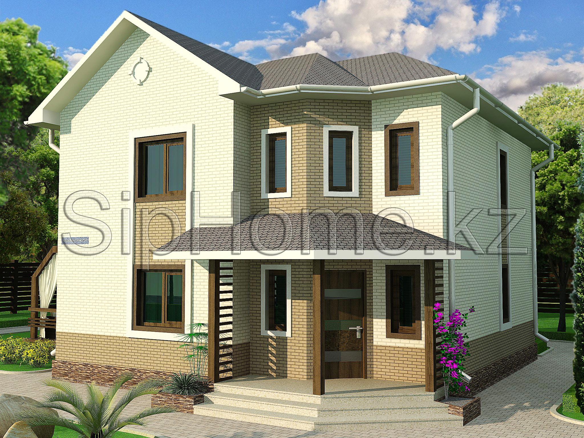 """Проект дома """"Коктем"""" 160 кв.м. из SIP панелей - 7 087 645 тенге"""