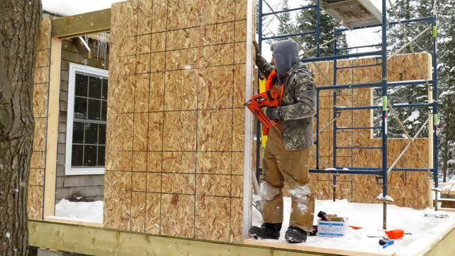 Строительство сип домов зимой