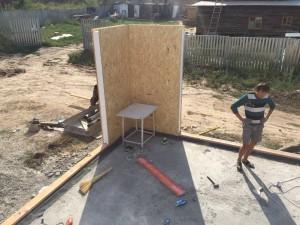 Постройка дома из СИП панелей по канадской технологии в Акжаре
