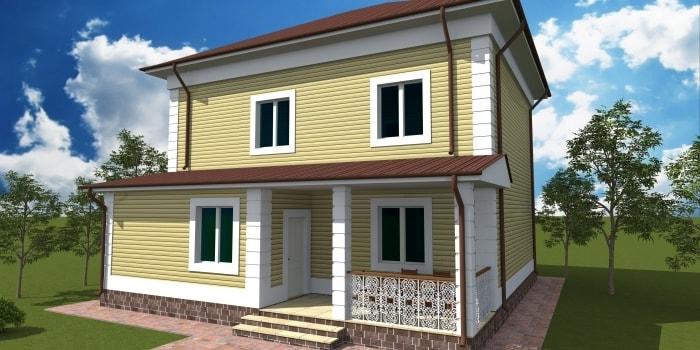 Проект дома «Карасай» 216 кв.м. из SIP панелей — 9 919 177 тенге