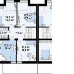 Проект современного дома Таунхаус 154,3 кв.м. из СИП панелей