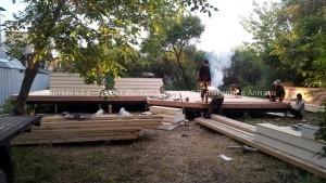 Фотоотчет со стройки дома в п. Алатау, дом из SIP панелей 75 кв.м.
