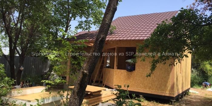 Фотоотчет со стройки дома в п. Алатау, дом из SIP панелей 75 кв.м. + отзыв