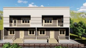 Начато строительство 2-х домов из сендвич панелей в Ремизовке