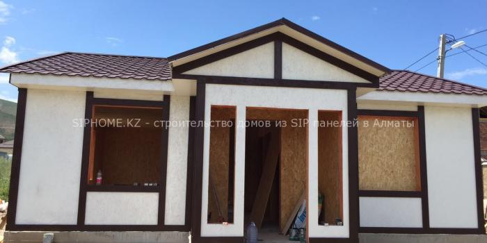Строительство дома 61 кв.м. из СИП панелей в п. Кыргаулды