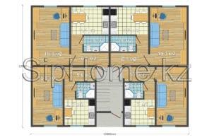 Инвестиционный проект 12-и квартирного дома 540 кв. м