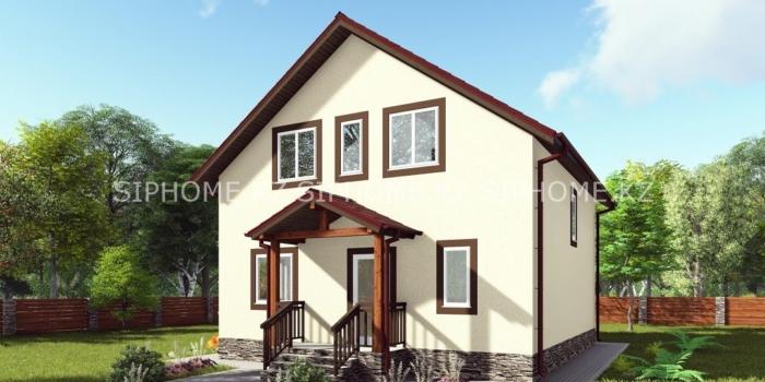 Проект двухэтажного дома «Ушконыр» площадью 150 кв. м — 6 808 000 тенге