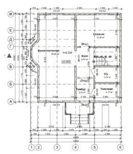 Проект двухэтажного дома Ушконыр площадью 150 кв. м