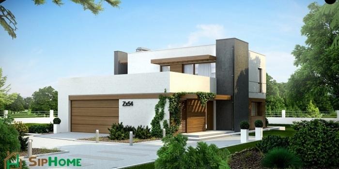 Проект дома «Вудстоун» из СИП панелей площадью 266 кв. м в стиле hi-tech — 12 199 769 тенге