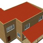 Проект двухэтажного дома Арман в стиле hi-tech