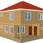 Строительство частного дома из СИП панелей в п. Бурундай (1)