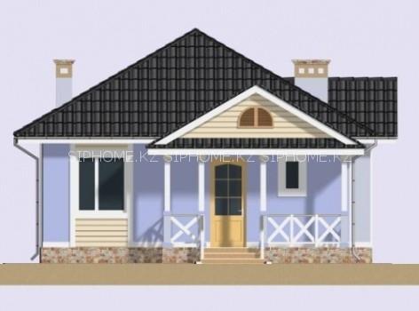 Проект компактного дома «Керей» 81,5 кв. м из SIP панелей — 4 990 990 тенге