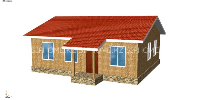 Проект дома «Уинсор» 93,44 м2  из СИП панелей