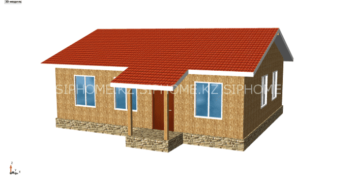 Проект дома «Уинсор» 93,44 м2  из СИП панелей — 5 125 090 тенге