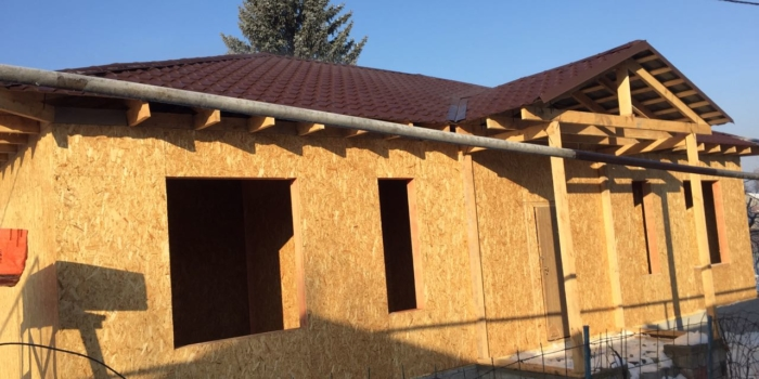 Cтроительство дома из СИП в Тастыбулак по проекту «Берлин»