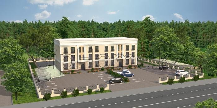 Проект и строительство от нашей компании многоквартирного двухподъездного дома площадью 1080 м2 «Кольсай»