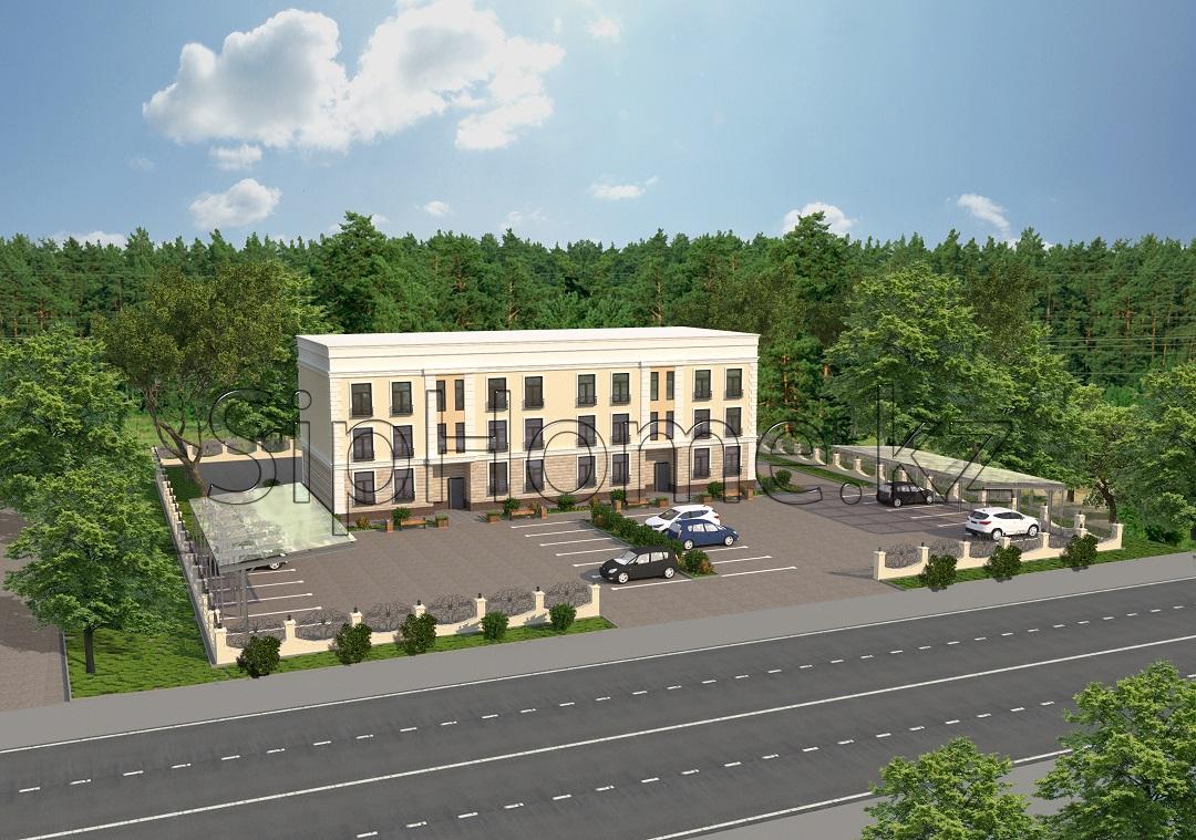 Проект и строительство от нашей компании многоквартирного двухподъездного дома