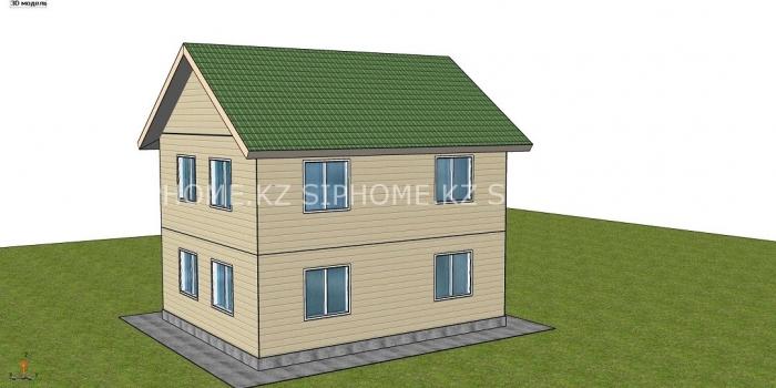 Проект «Каскелен» 99 м2 для строительства дома из СИП панелей — 4 748 983 тенге