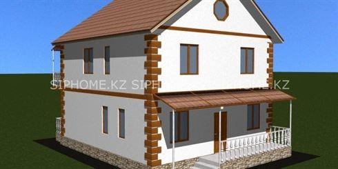 Строящийся дом 180 м2 из СИП панелей в мкр-н Баганашыл [2018]
