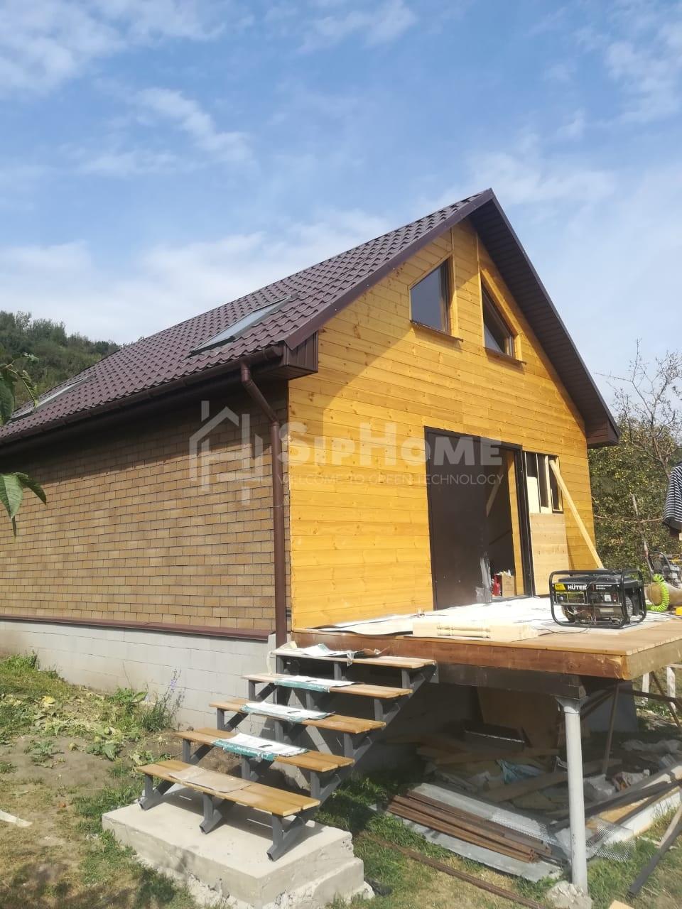 Строительство летнего дома для отдыха из СИП панелей в Карагайлы 74 м2 [2018]