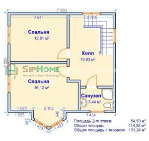 План частного дома Талгар