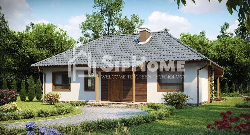 «Каратал» - проект строительства дома из СИП-панелей, 123 кв.м - 3 465 425 тенге