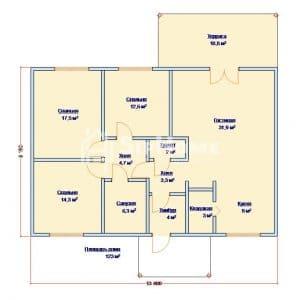 Проект строительства дома Каратал из СИП панелей 123 м2