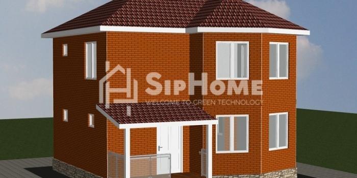 Проект строительство дома «Талгар» 110,86 м2 — 3 801 472 тенге