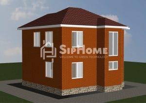 Проект строительство дома Талгар 110,86 м2 - 3 801 472 тенге