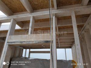 Строительство каркасного дома в стиле хайтек в Алматы